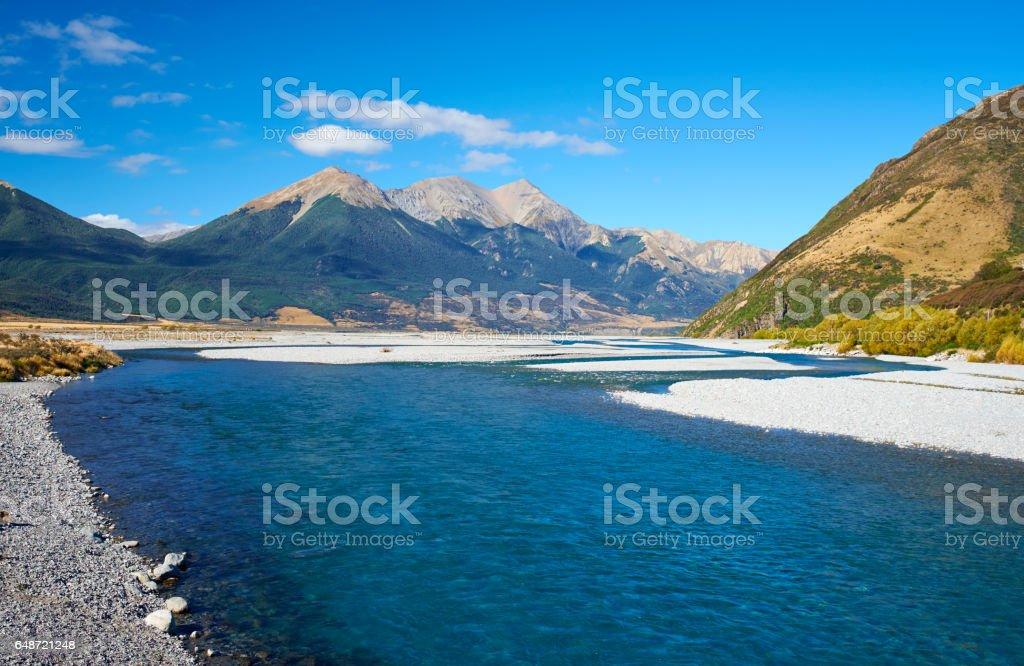 The Waimakariri River In New Zealand's Arthur's Pass National Park stock photo
