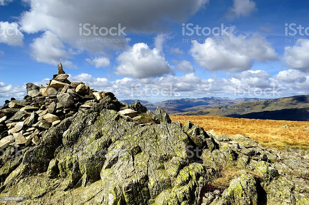 The Wainwrights of Yoke and Ill Bell stock photo
