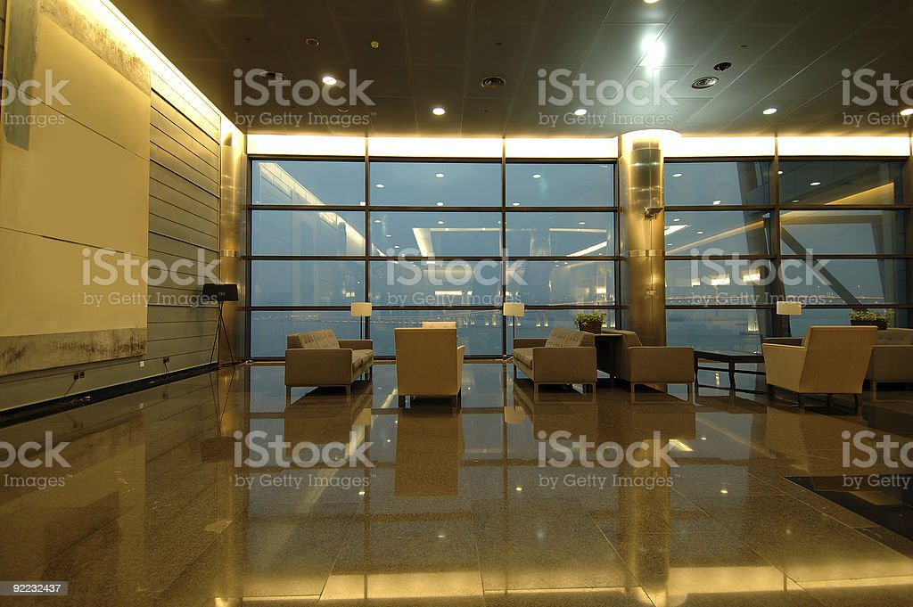 The waiting area in entertainment center royalty-free stock photo
