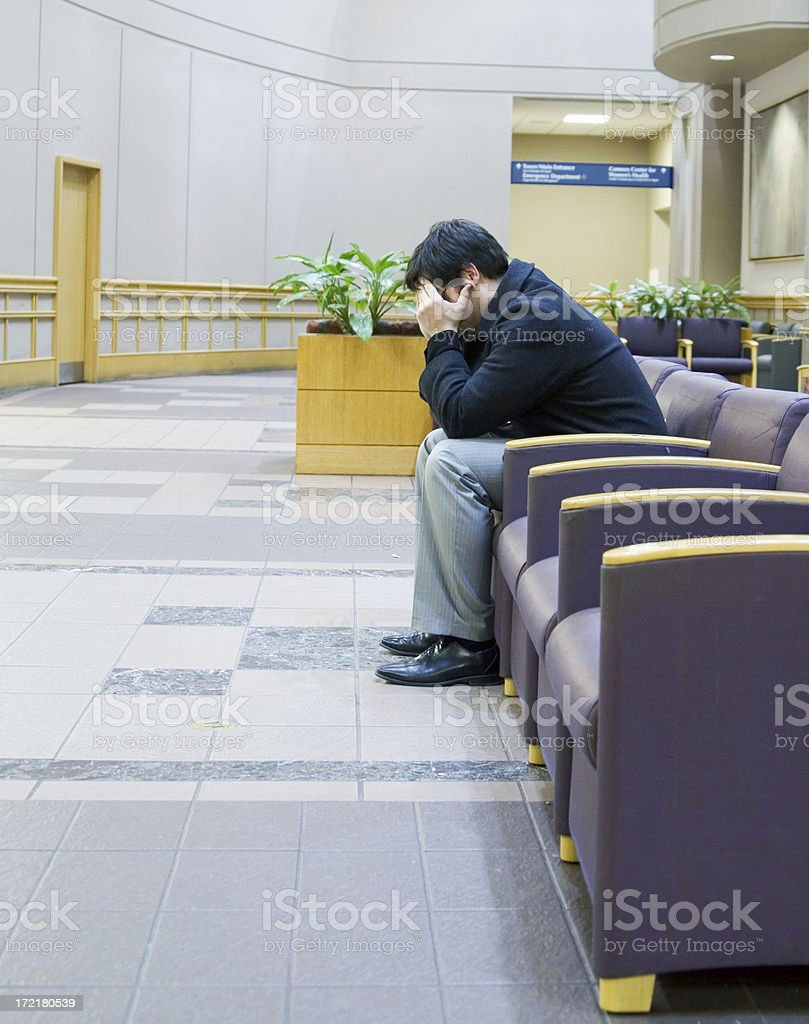 The waiting room royalty-free stock photo