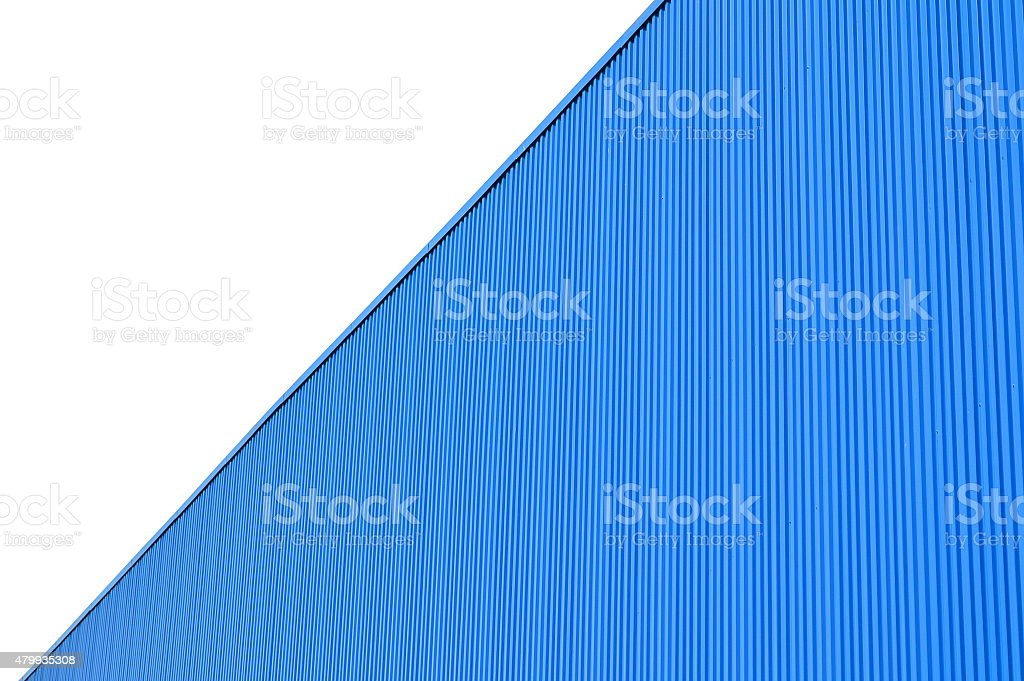 The wall of corrugated stock photo