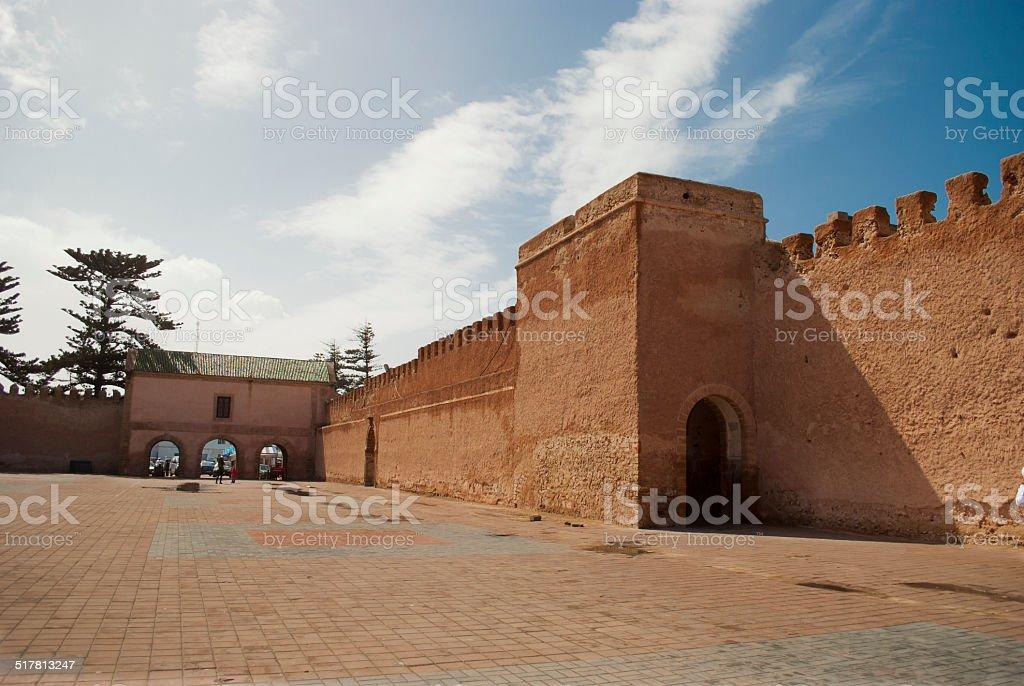 The wall of Essaouira City, Morocco stock photo