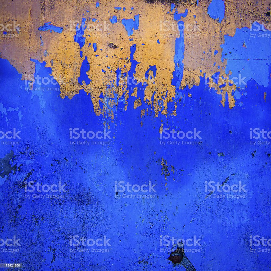 The wall with Blue and Gold colours royalty-free stock photo