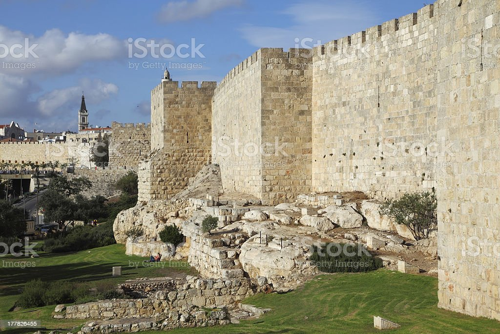 The walls and towers royalty-free stock photo