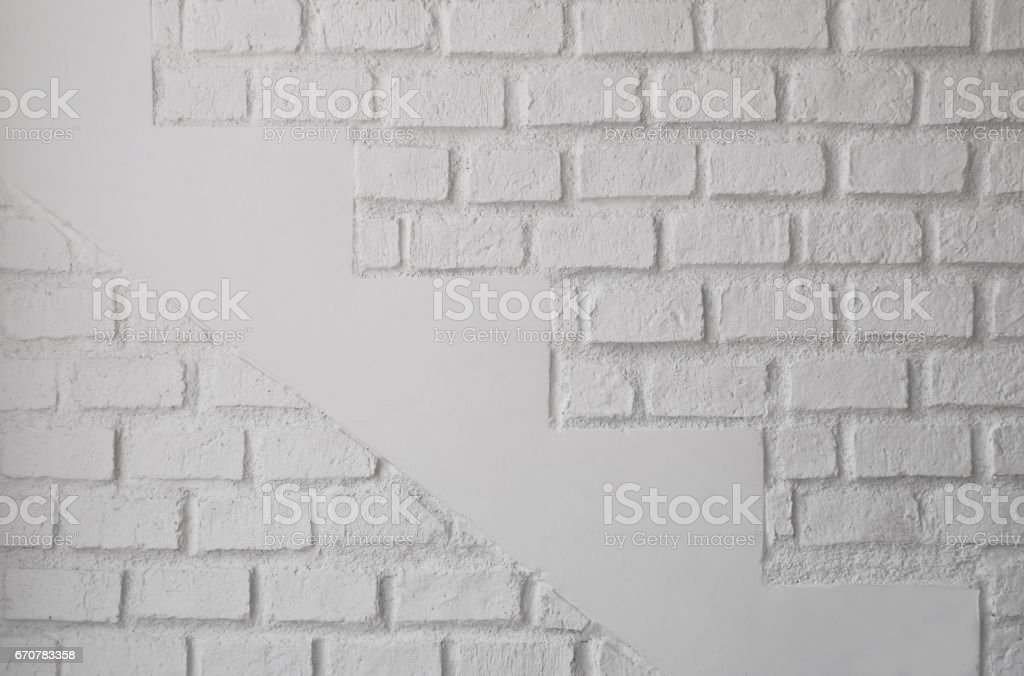 The walls are made of white bricks. Texture of white wall.