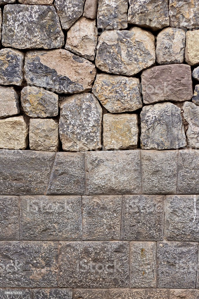 The walls of the Incas royalty-free stock photo