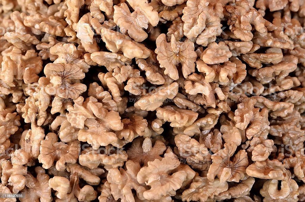 The walnuts royalty-free stock photo