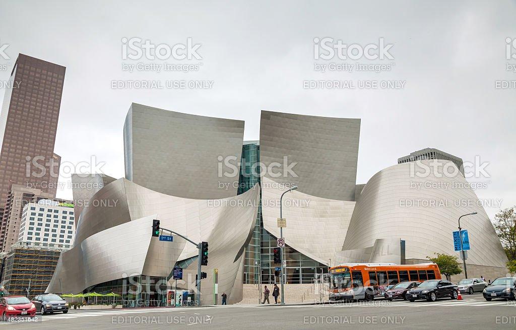The Walt Disney Concert Hall in Los Angeles, CA stock photo
