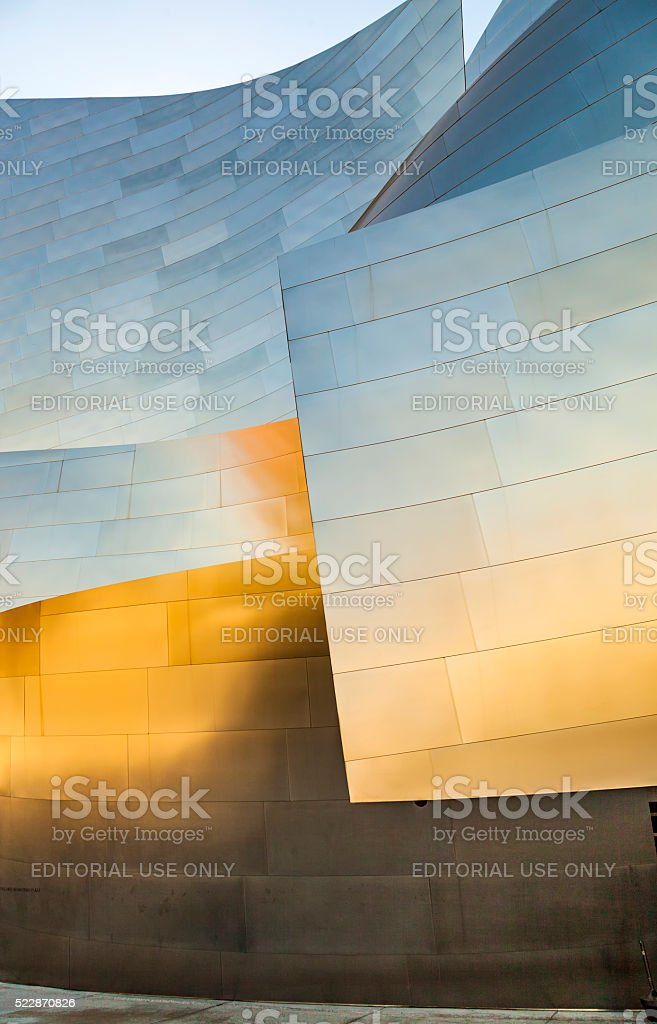 The Walt Disney Concert Hall in LA. stock photo