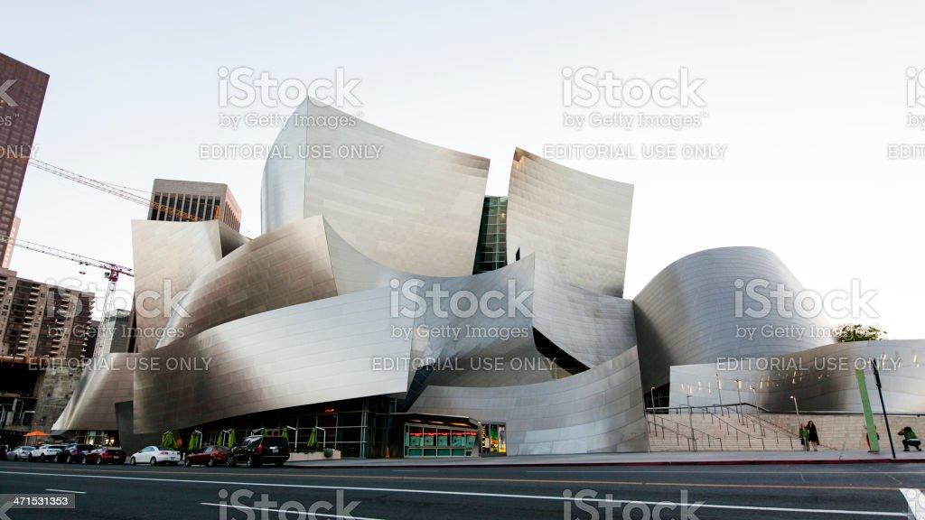 The Walt Disney Concert Hall royalty-free stock photo