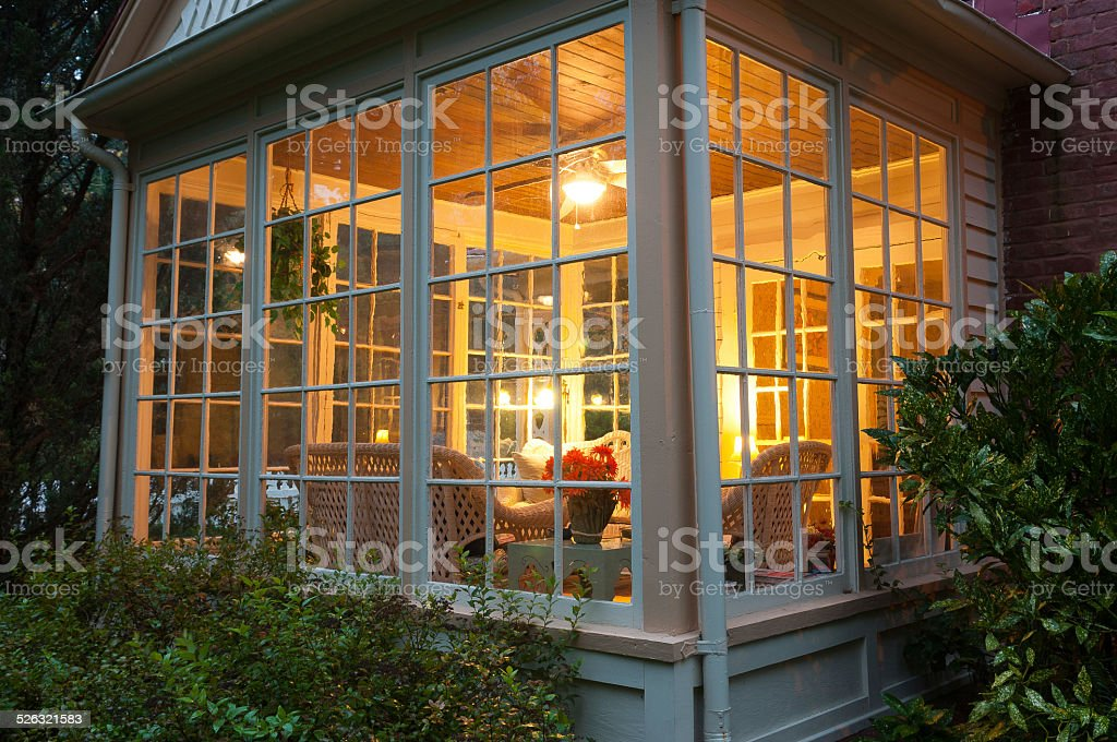 The warm glow of home. stock photo
