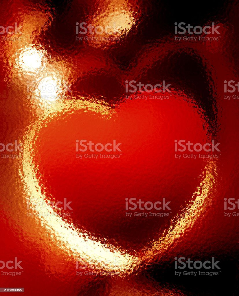 The Warm Red Heart stock photo