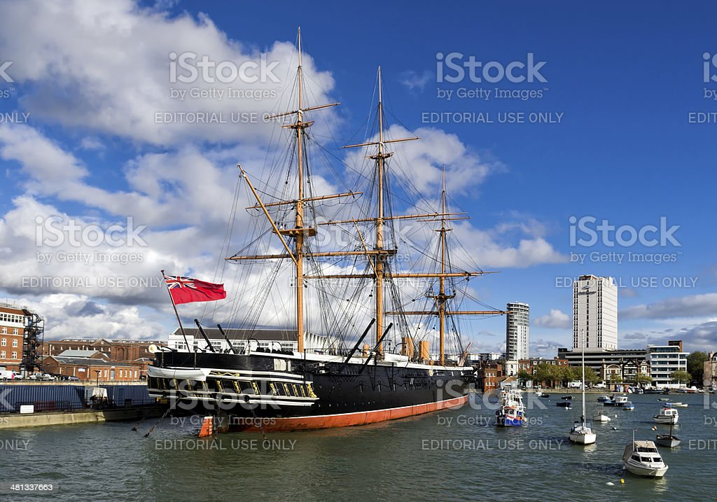 The Warrior in Portsmouth Harbour stock photo