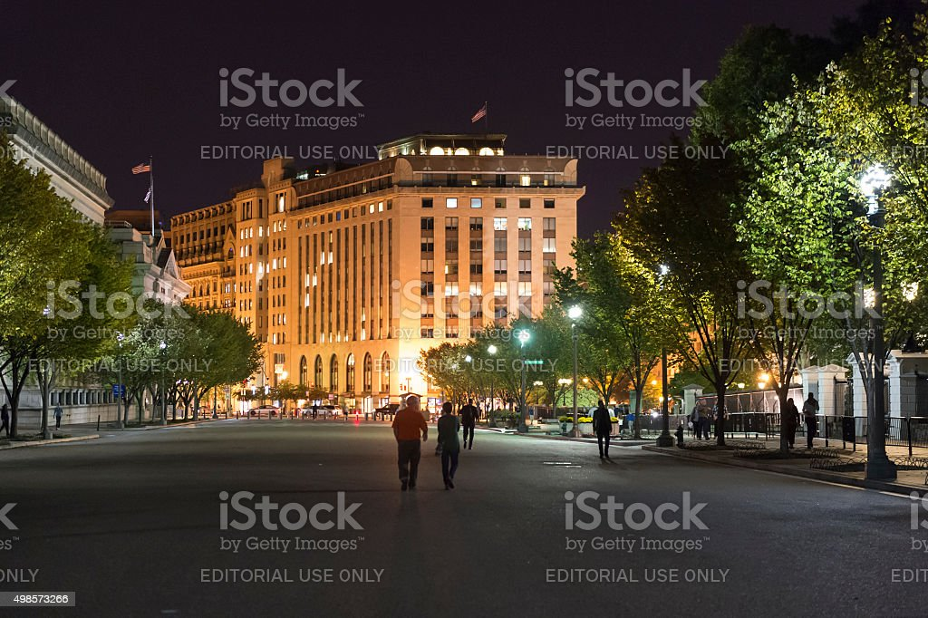 the Washington Building Pennsylvania Ave by White House Washington DC stock photo
