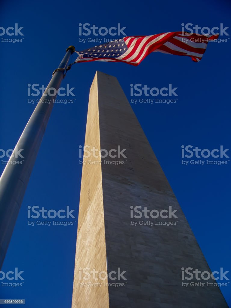 The Washington Monument in Washington, D.C., USA. stock photo