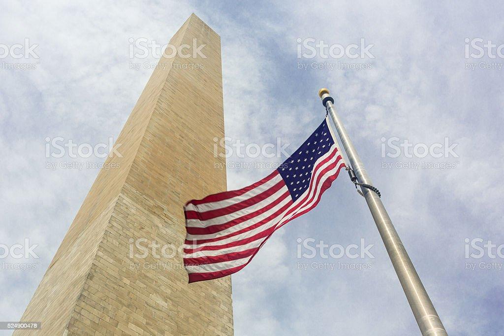 The Washington Monument landmark stock photo