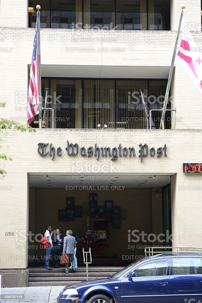 The Washington Post Building Main Entrance stock photo