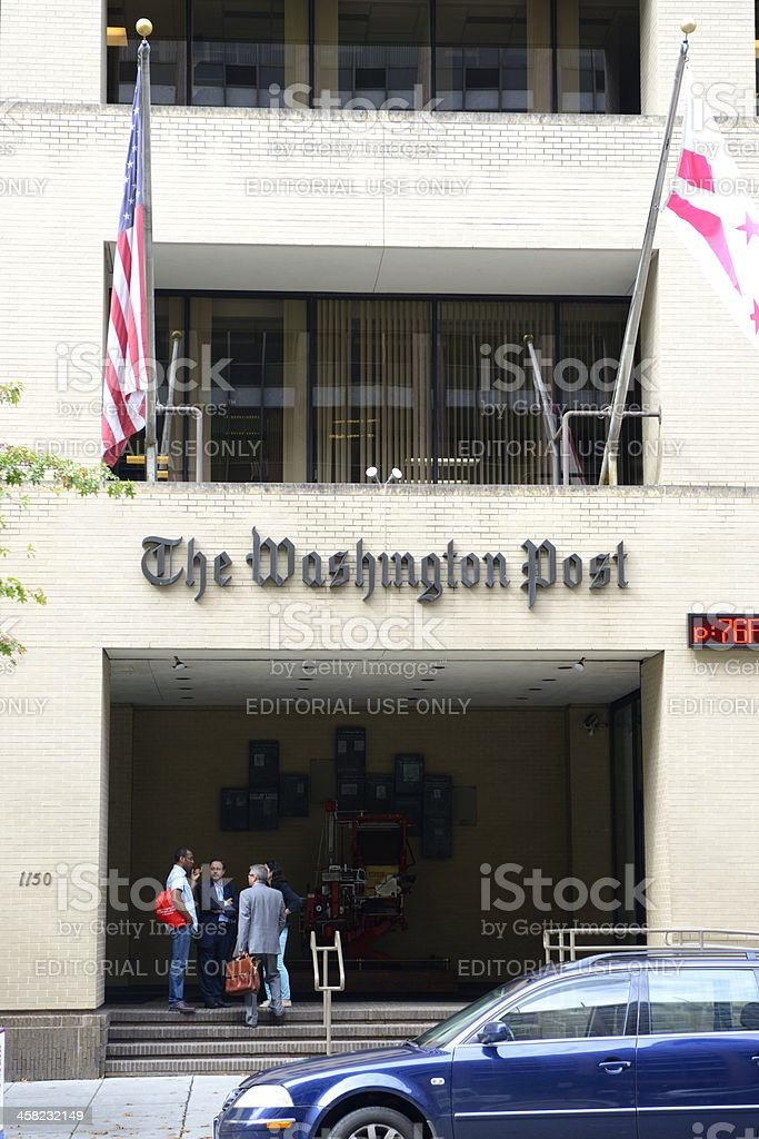 The Washington Post Building Main Entrance stock photo