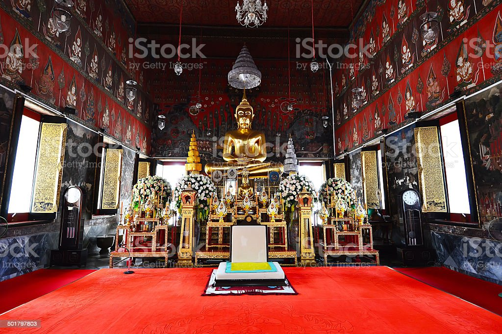 The Wat Saket also Golden Mount temple stock photo