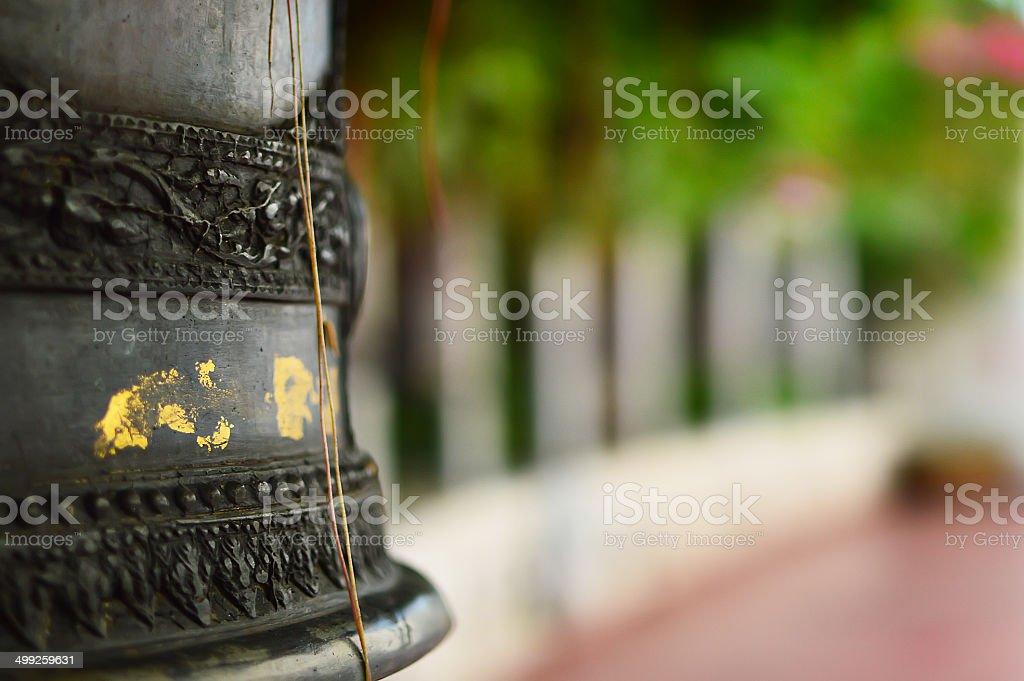 The Wat Saket also Golden Mount temple stairs stock photo