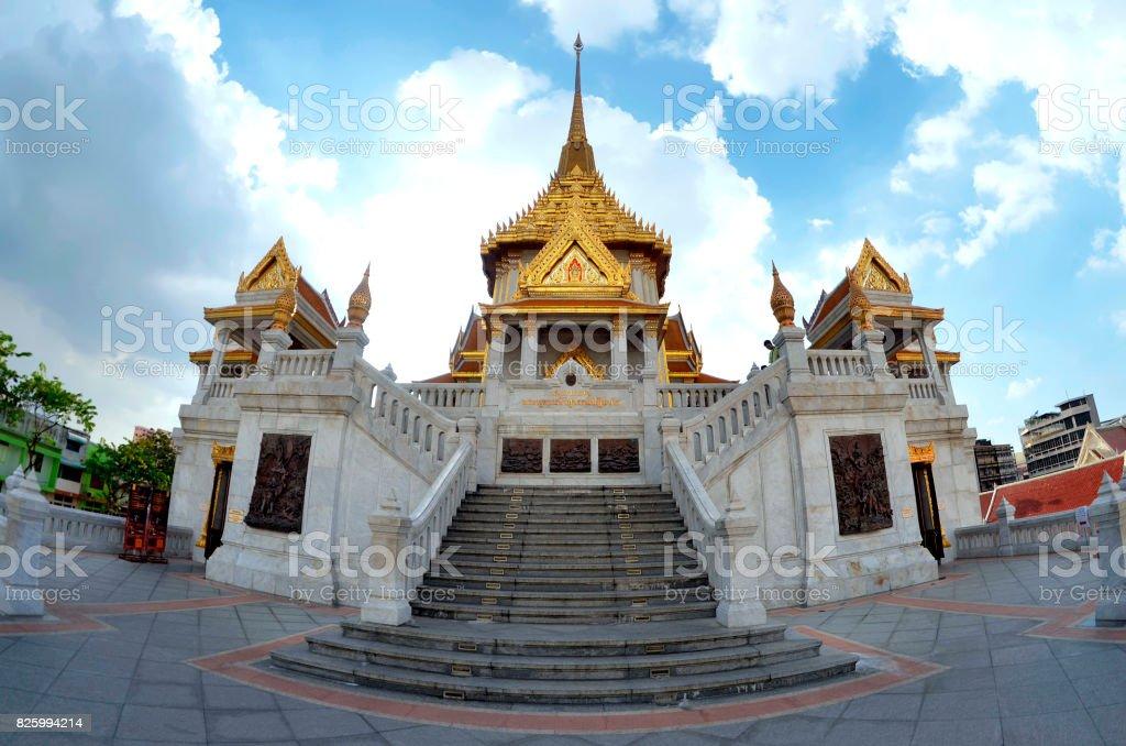 The Wat Traimit in Bangkok stock photo