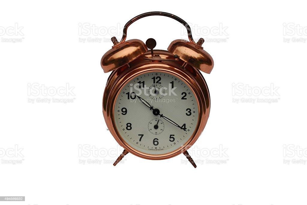 The Watch mechanical - an alarm clock. Izolyat stock photo