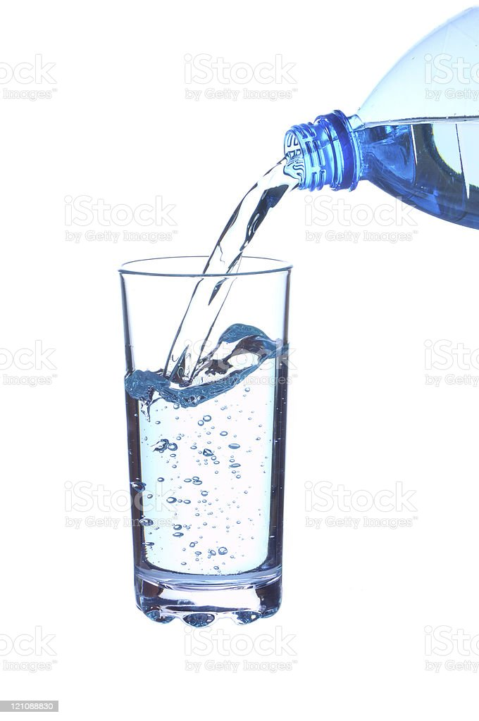 The water in a glass royalty-free stock photo