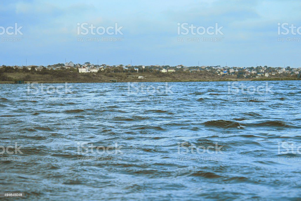 The water in the river, blue and green color royalty-free stock photo