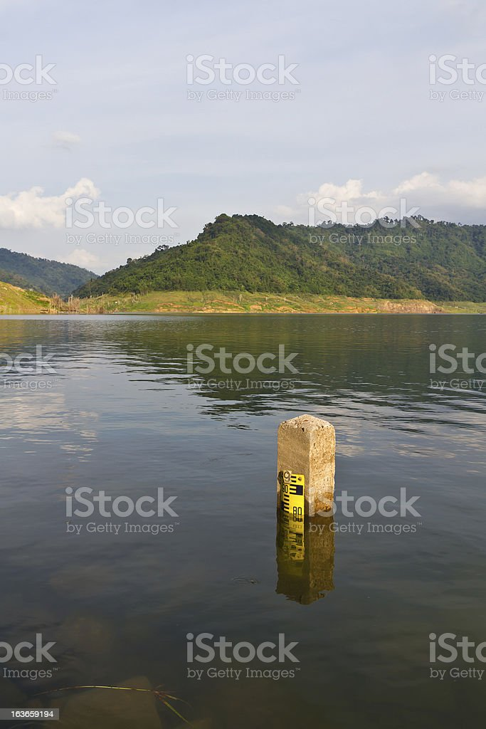The water level. royalty-free stock photo