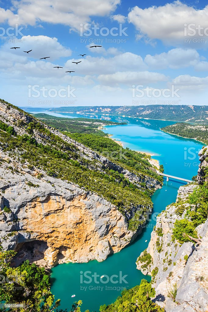 The water of the river Verdon stock photo