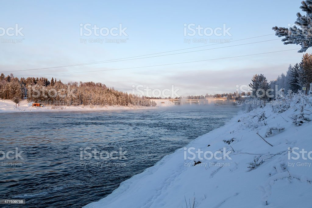 The water powerplant royalty-free stock photo