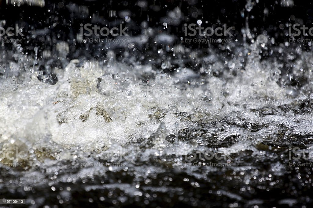 The Water Spread Impact on water. royalty-free stock photo