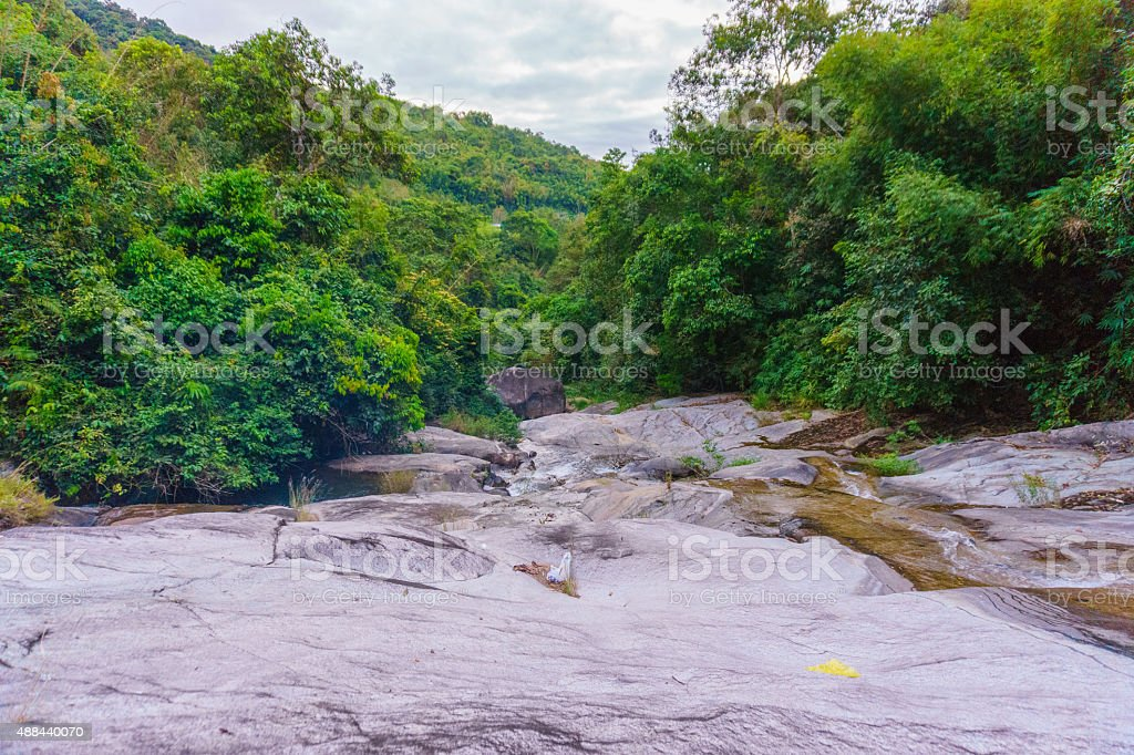 The waterfall down stock photo