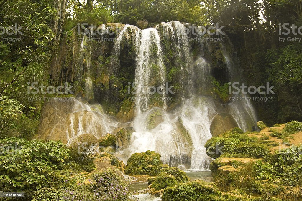 El Nicho waterfall stock photo