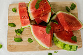 The water-melon cut on pieces,