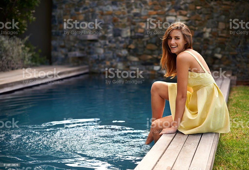The water's great - let's get in stock photo