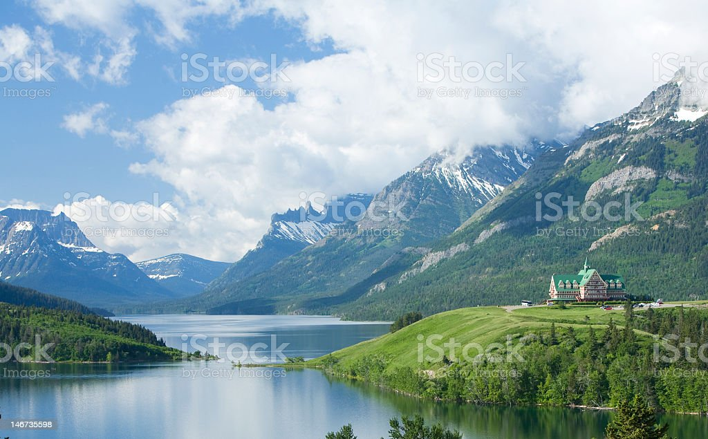 The Waterton Lakes national park stock photo