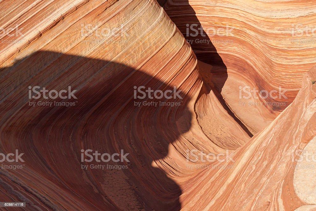 The Wave and North Coyote Buttes, Arizona-Utah border. stock photo