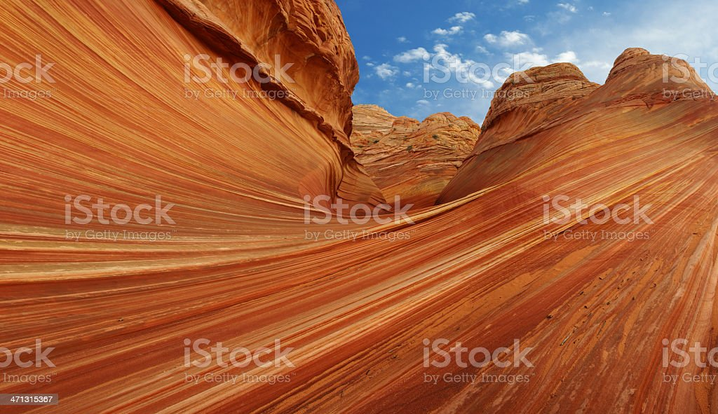 The Wave at North Coyote Buttes royalty-free stock photo