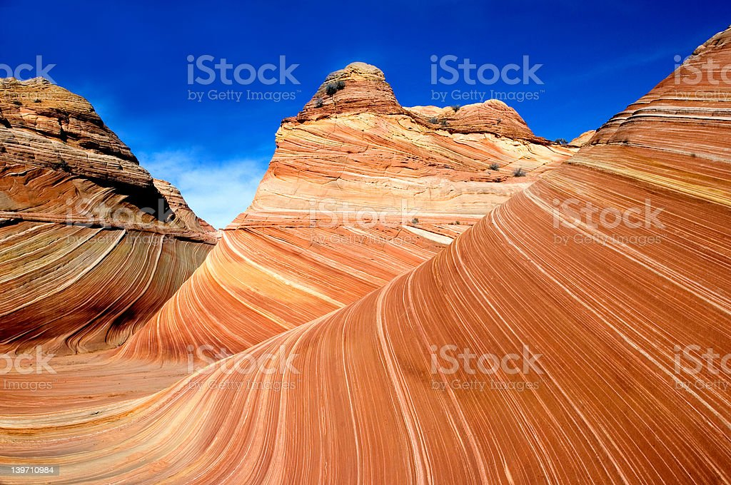 'The wave' in Pariah Canyon royalty-free stock photo