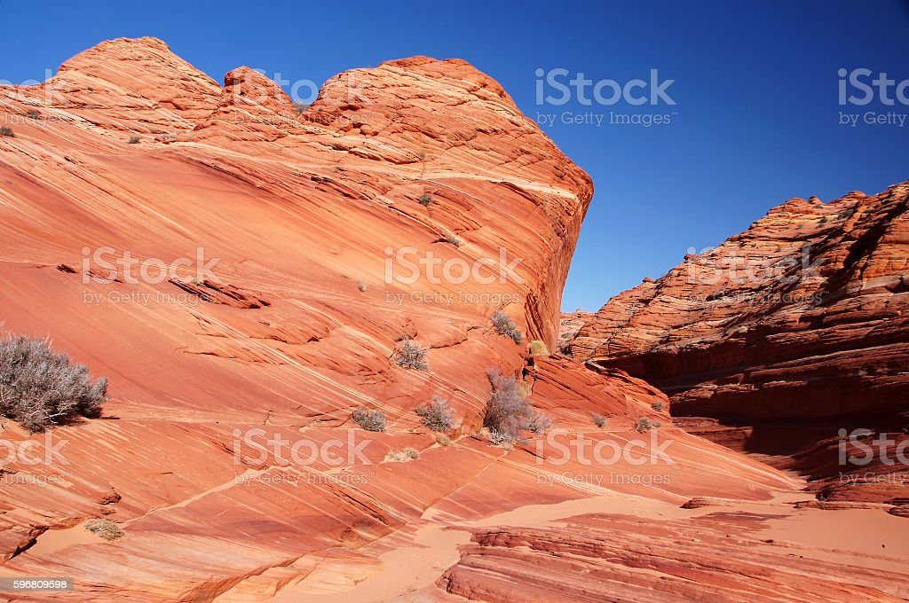 The Wave, Vermilion Cliffs National Monument, Arizona, USA stock photo