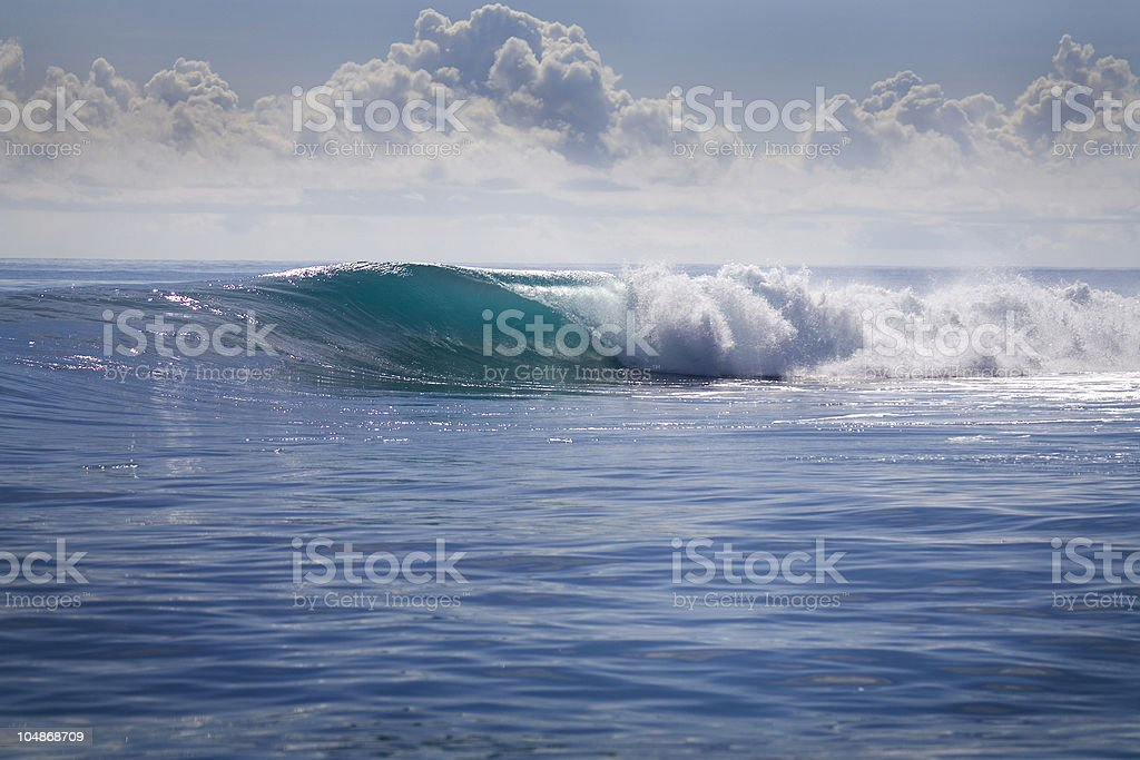 The waves of the sea in motion and the cloudy sky royalty-free stock photo