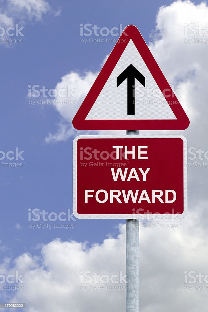 The Way Forward sign royalty-free stock photo