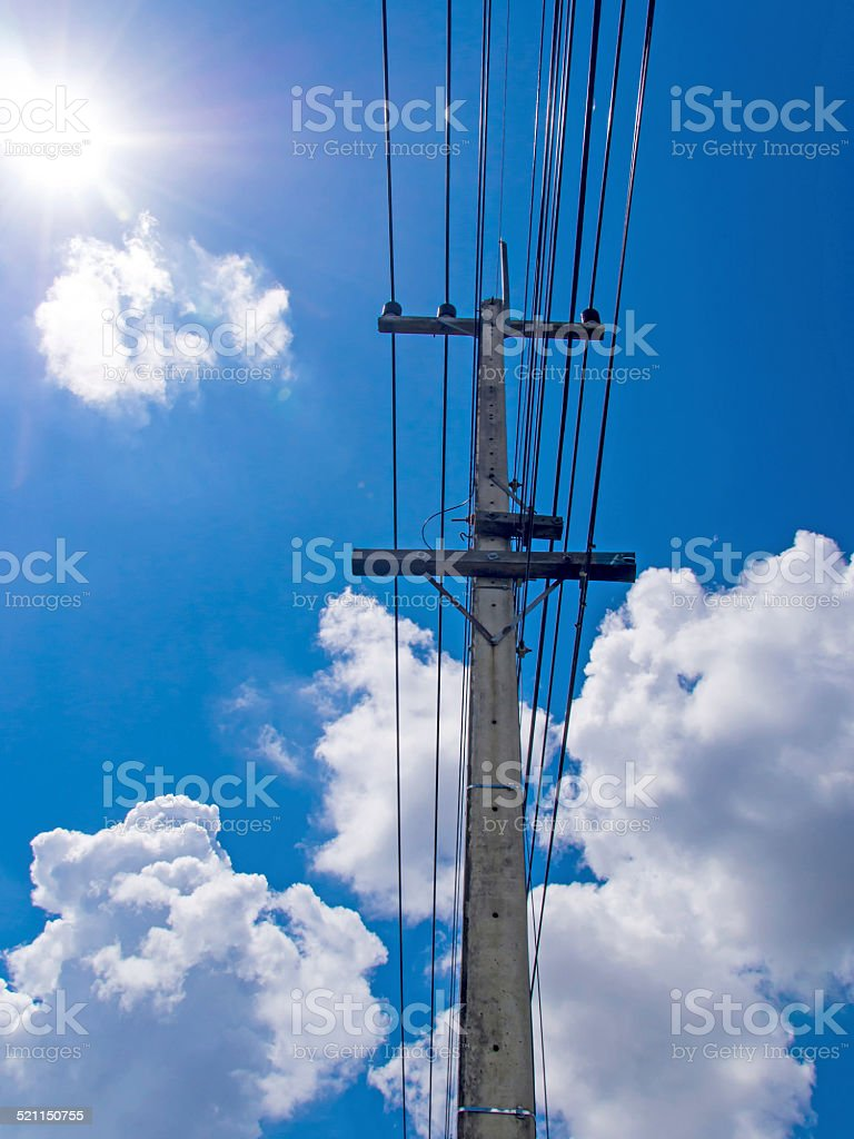 The way of electical power stock photo