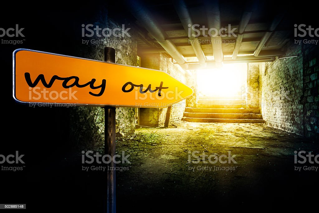 the way out stock photo