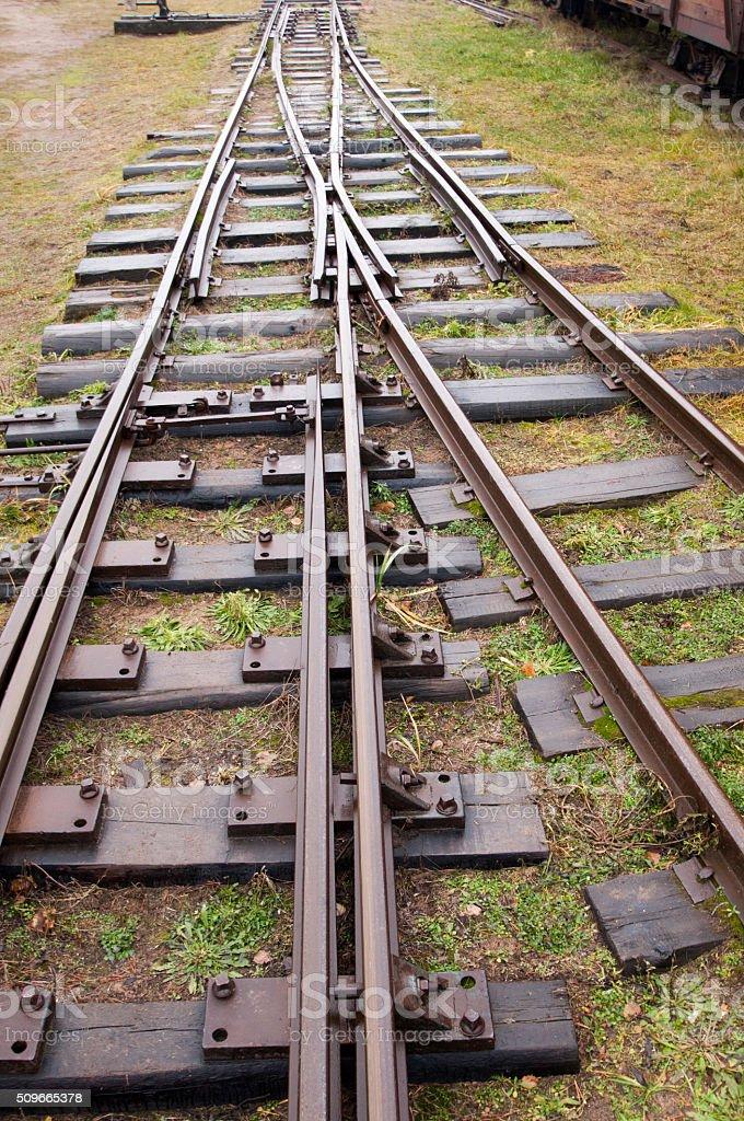 The way railway stock photo