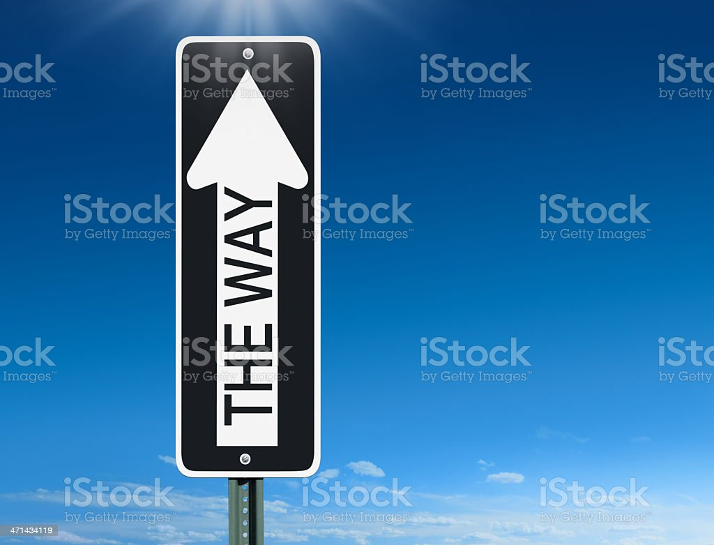 The Way Sign stock photo