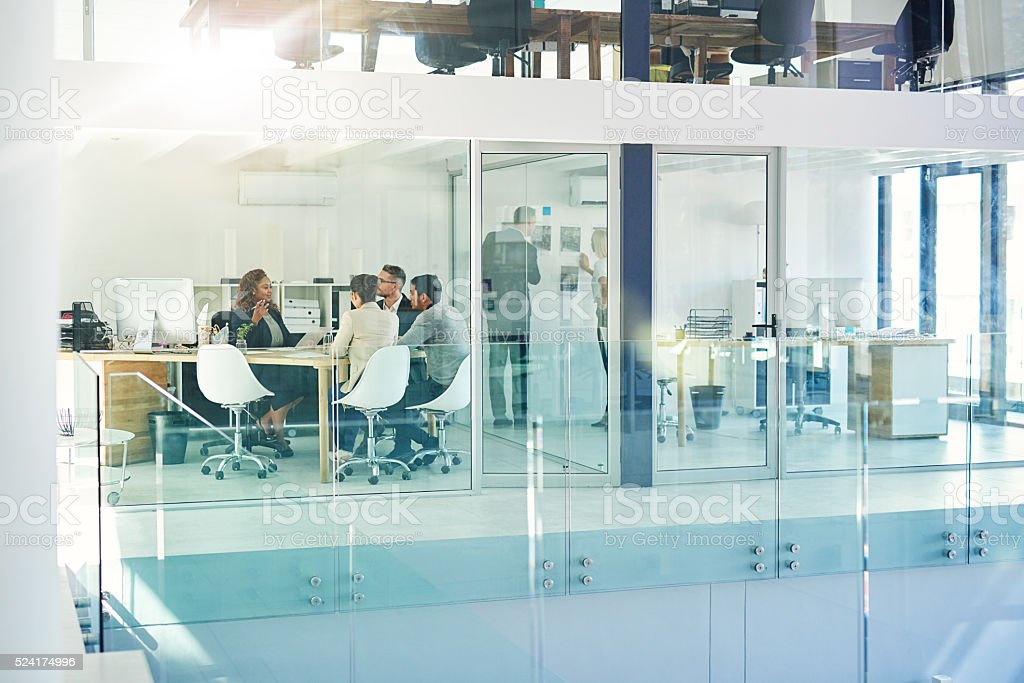 The way the office operates stock photo