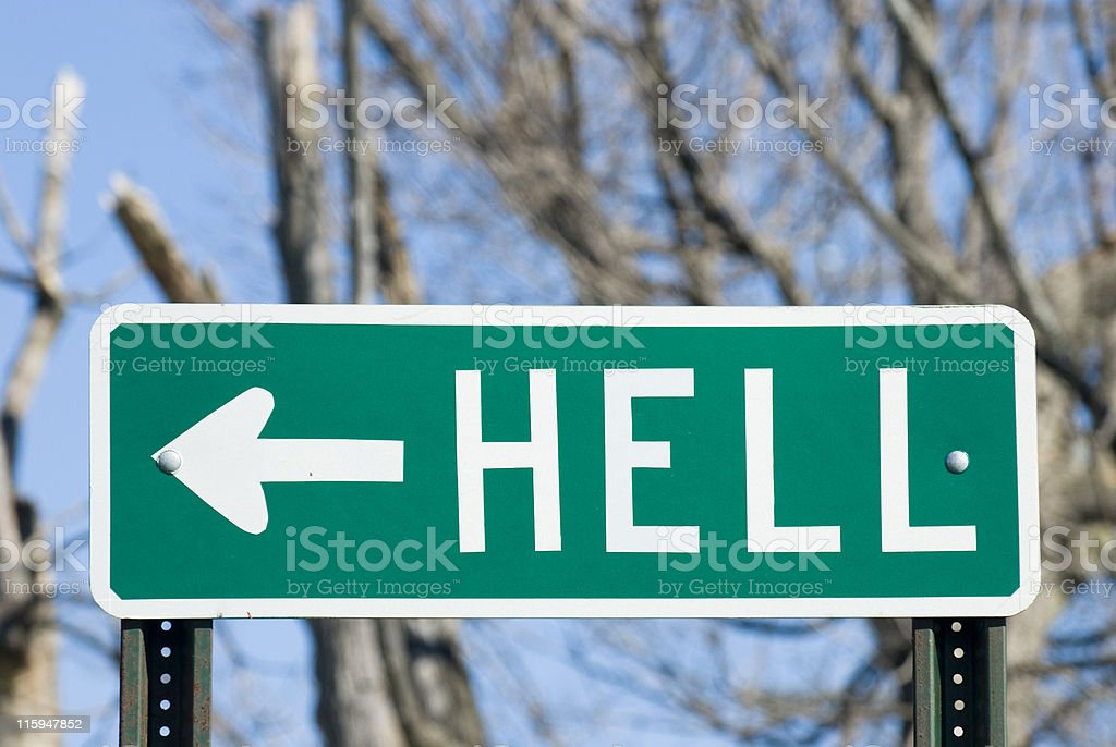 The Way to Hell stock photo
