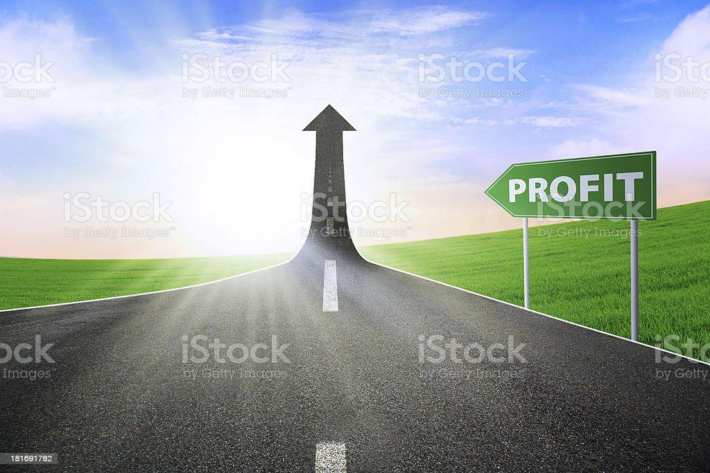 The way to improve profit stock photo
